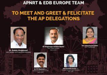 APNRT & EDB EUROPE TEAM TO  FALICITATE AP DELEGATION